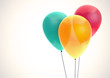 Color balloons on white background - 79684892