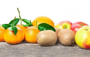Äpfel, Kiwis, Mandarinen