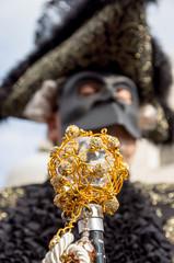 Venetian Carnival mask, royal cane