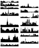 Fototapety Black silhouette of famous cities