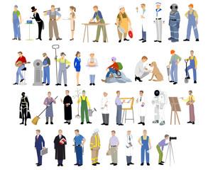 Different professions set