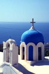 Blue chapel, Oia, Santorini