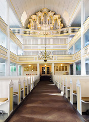 Bach Church in Arnstadt, interior; Thuringia, Germany