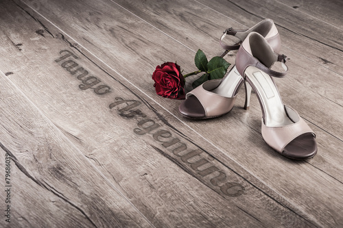 Argentine tango poster or postcard - 79686039