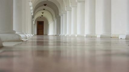 White Corridor with Arches