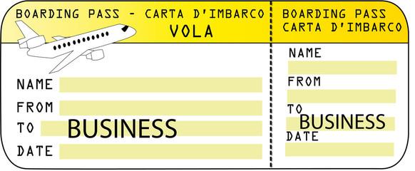 """Biglietto Aereo solo andata destinazione """"BUSINESS"""""""