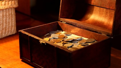 Woman Puts Silver Coin to Chest