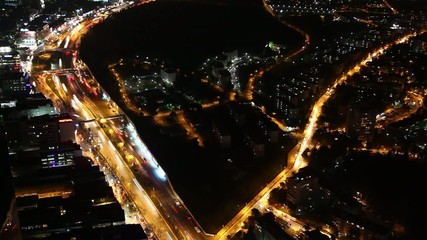 Timelapse Night City
