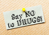Say No to Drugs Message poster