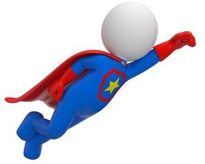 blauer fliegender superheld