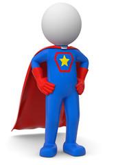 stolzer blauer Superheld