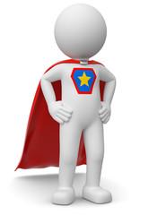 stolzer weisser Superheld