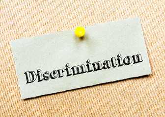 Discrimination Message