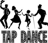 Tap dance silhouette banner