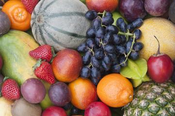 Obst, verschiedene Früchte