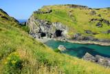 Merlin's Cave - Tintagel bay North Cornwall coast,England