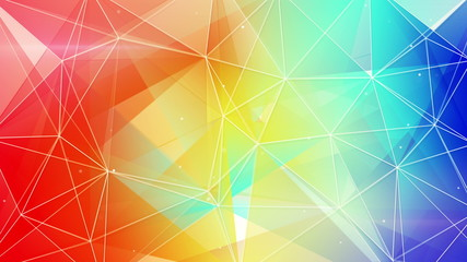 abstract geometrical colorful background loop 4k (4096x2304)