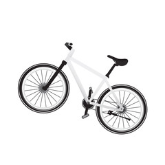 Bike white  vector