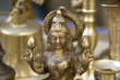 Leinwanddruck Bild - Closeup to Lakshmi Statue