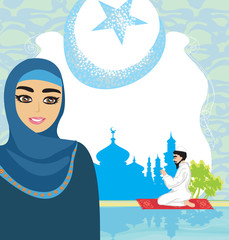 abstract religious background - muslim