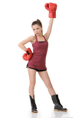 Chinese boxing girl