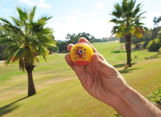 Golf en España, pelota en la mano