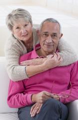 Portrait senior couple