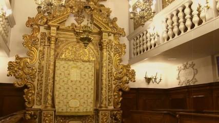 Interior of Ancient Synagogue at Italian town  Conegliano Veneto