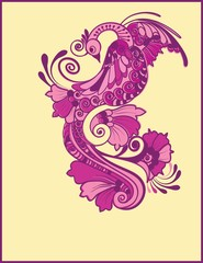 Magic fairy tale purple bird.