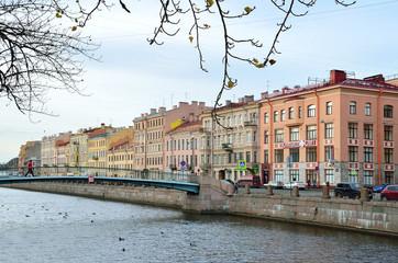 Коломенский пешеходный мост через канал Грибоедова