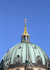 Close up of The Berlin Cathedral Berliner Dom