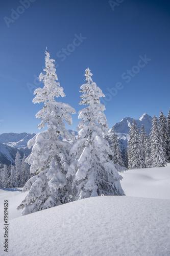 Papiers peints Montagne Winter in den Bergen