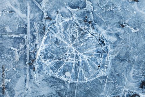 Blue toned macro background texture of broken ice