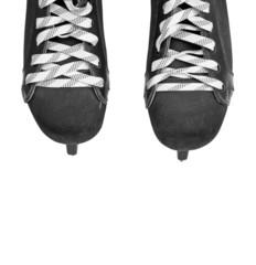 ice hockey skates isolated on white