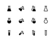 Lab flask icons on white background. - 79695487