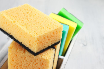 Cleaning sponges