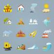 Natural Disaster Icons Flat - 79696486