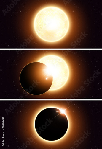 Space Eclipse Banners