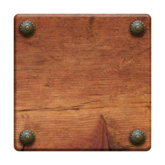 Plaque en bois vintage