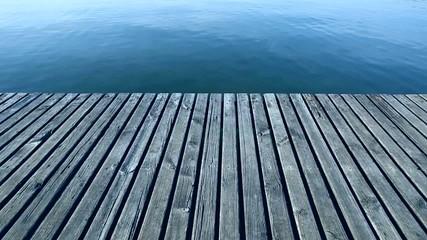 Dreaming wooden slight ripple water