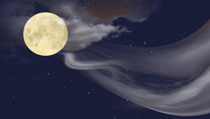 Moon and light path