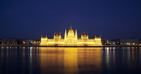 The Hungarian Parliament in the night