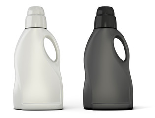Black and white bottle template for detergent