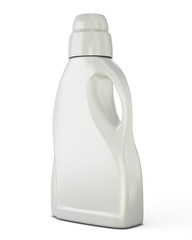 White bottle template for detergent