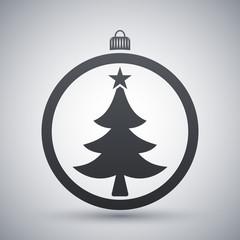 Vector christmas ball icon