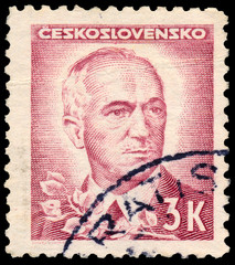 Stamp printed by Czechoslovakia, shows Benes