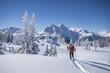 Leinwanddruck Bild - Winter in den Bergen