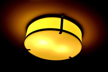 Simple light fixture in the ceiling