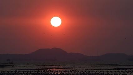 Sunset at island (Si Chang), Chonburi, Thailand