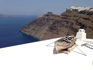 Scialuppa sul tetto
